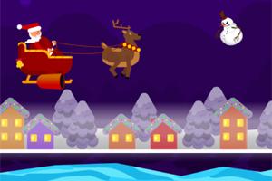 《圣诞老人打雪人》游戏画面1