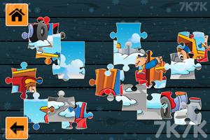 《冬季卡车拼图》游戏画面1