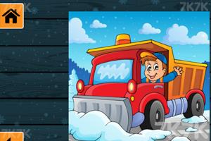 《冬季卡车拼图》游戏画面3