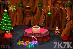 《圣诞老人洞穴逃脱》游戏画面1