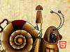 拉水的机械蜗牛