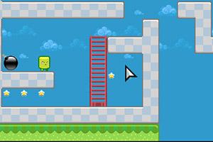 《绿色方块大冒险》游戏画面1