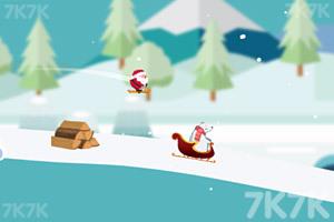《圣诞老人躲雪崩》游戏画面2