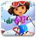 朵拉练习滑雪