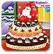 装饰圣诞节蛋糕