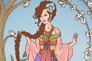 美丽长发公主