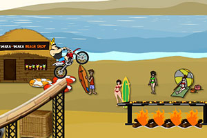 沙滩摩托特技