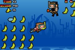 潜水猴吃香蕉