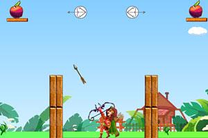 罗宾汉弓箭射苹果无敌版