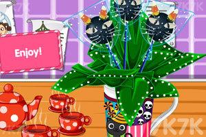 黑猫棒棒糖蛋糕