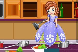 索菲亚打扫厨房