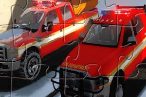 道奇消防车拼图