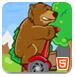 小熊骑独轮