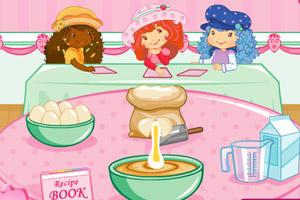草莓妹妹做蛋糕