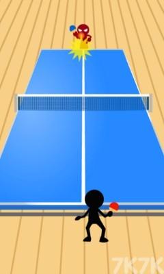 《火柴人乒乓球》游戏画面2