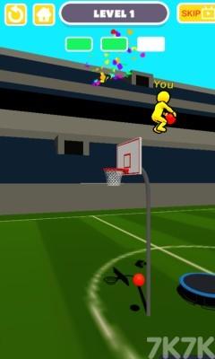 《弹跳投篮》游戏画面2