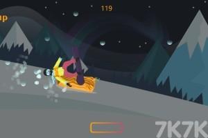 《雪山滑雪板》游戏画面1