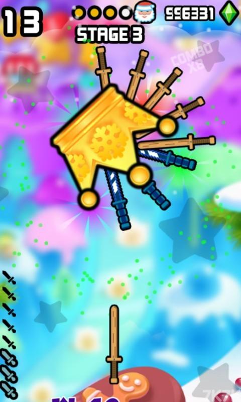 《见缝插刀圣诞无敌版》游戏画面3