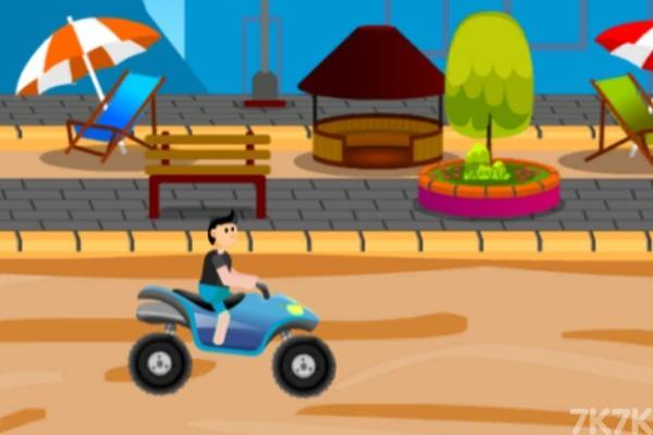 《沙滩车障碍赛》游戏画面2