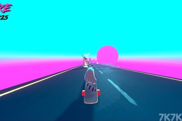 《狸猫日落速滑》游戏画面3
